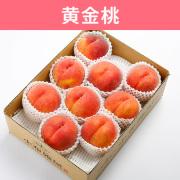 【送料込】桃    黄金桃 3kg (8~10玉入)
