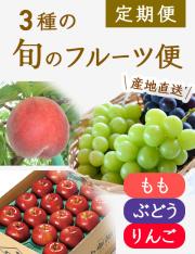 【送料無料】 旬の3種のフルーツ定期便コース(3回)