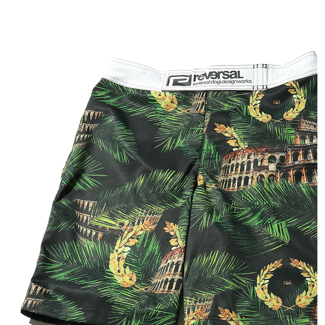 PALM LEAF COLOSSEUM ACTIVE SHORTS