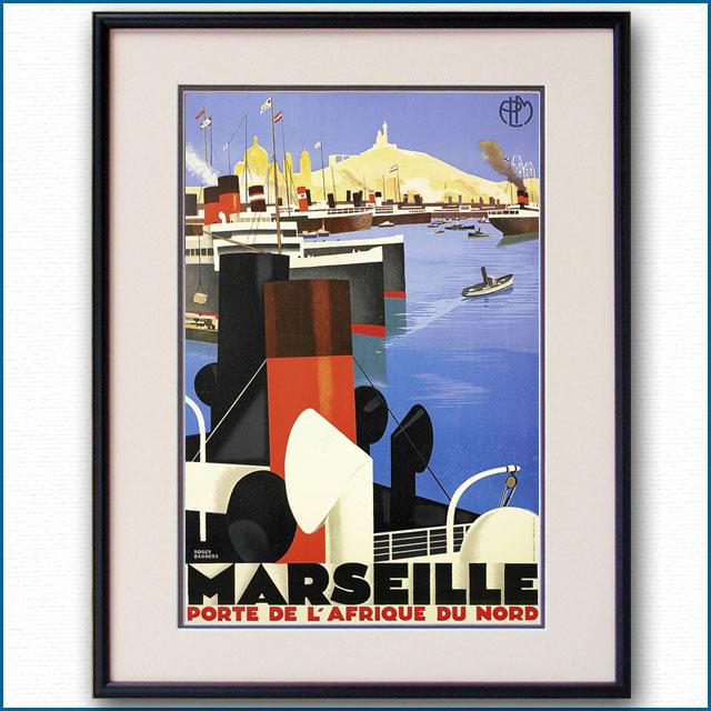 1930年 ロジャー・ブローダー マルセイユのポスター黒