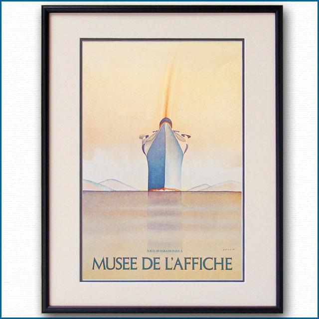 1978年 フォロン カッサンドルへのオマージュ パリ・国立ポスター博物館のポスター黒
