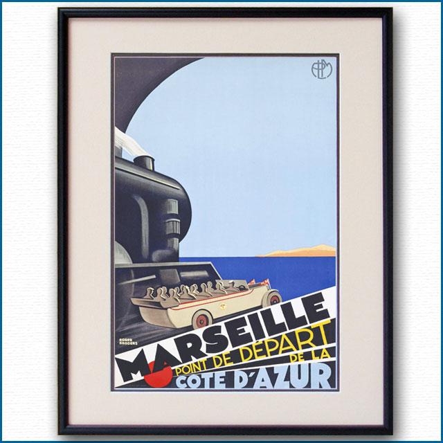 1929年 ロジャー・ブローダー マルセイユのポスター 黒