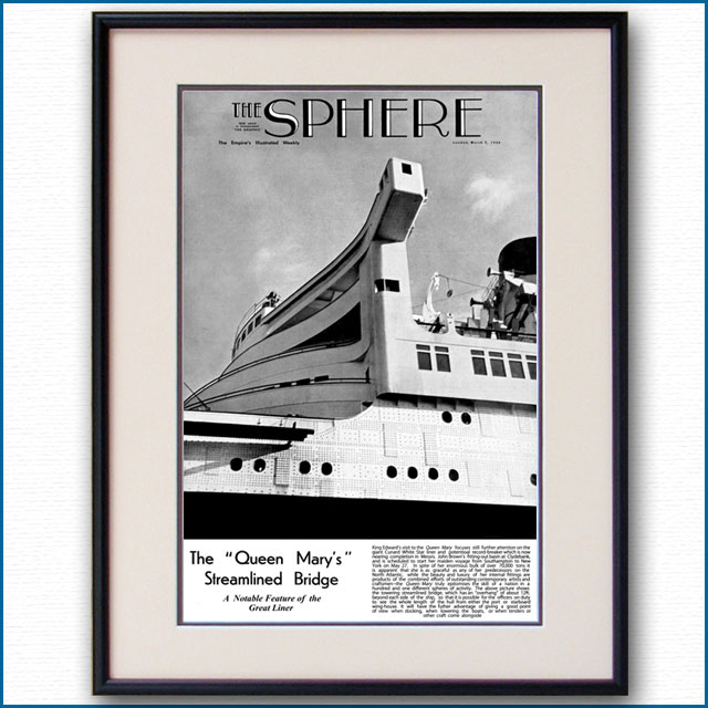 1936年 スフィア紙・客船クイーンメリー 3204LL 黒