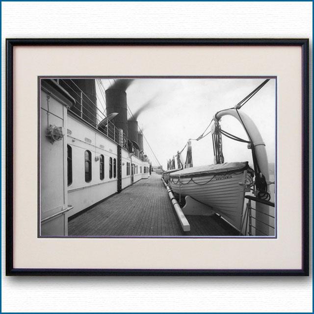 1910年頃 客船モーレタニア・アッパーデッキの写真 3244LL黒