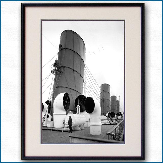 1914年頃 客船アキタニア・アッパーデッキの写真 3246LL黒