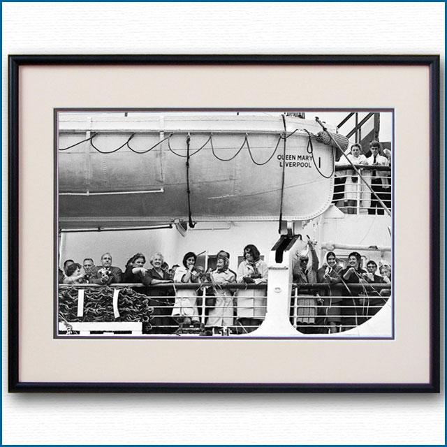 1967年 客船クイーンメリー・ボートデッキの写真 3273LL黒