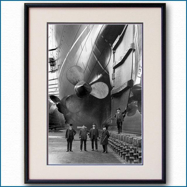 1907年 客船モーレタニア・プロペラの写真 3303LL黒