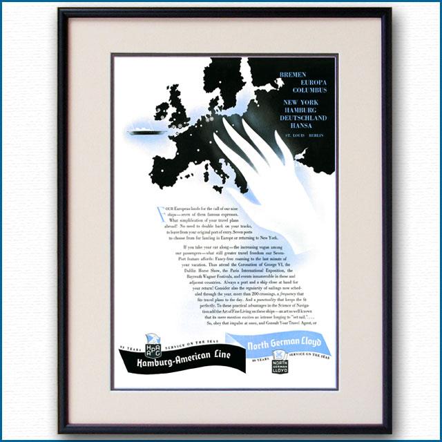 1937年 ハパグ・北ドイツロイド雑誌広告 3348LL黒