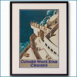 1938年 客船モーレタニアのポスター【Maritime Gallery Ocean-Note】
