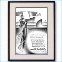 1930年 IMM・ホワイトスターライン・レッドスターライン雑誌広告 2334LL黒