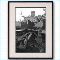 1935年 客船クイーンメリー・16tアンカーの写真 2499LL黒