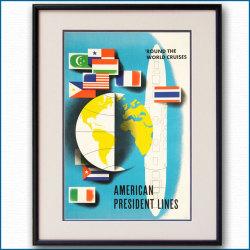 1971年 APL・アメリカンプレジデントラインズのポスター黒