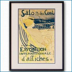 1890年 ロートレック 54号室の女船客 国際ポスター展覧会のポスター黒