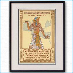 1927年 MMフランス郵船のポスター黒
