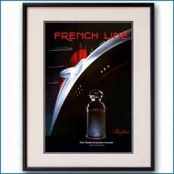 1984年 客船ノルマンディー・レヴィヨン雑誌広告 3089LL黒
