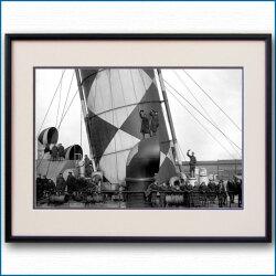 1918年 客船モーレタニア・ダズール迷彩の写真 3238LL黒