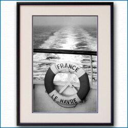 1960年代 客船フランス・救命浮環の写真 3290LL黒