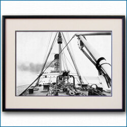 1910年頃 客船ルシタニア・ブリッジの写真 3322LL黒