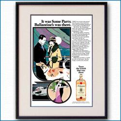 1973年 パトリック・ナゲル 客船モーレタニア・バランタイン雑誌広告 3339LL黒
