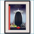 2004年 客船クイーンメリー2就役記念ガラディナーメニューカバー 2002LL黒