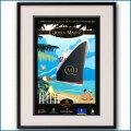 2004年 クイーンメリー2 処女航海のポスター黒