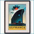 1979年 スティアニー 客船フランスのポスター 2026LL黒