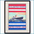 1952年 客船ユナイテッドステーツのポスター 2032LL黒