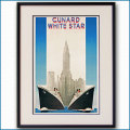 1939年 キュナードホワイトスターラインのポスター 2033LL黒