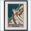 1938年 ジャービス 客船モーレタニアのポスター 黒