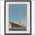 1935年 ポール・イリーブ 客船ノルマンディー・ブローシャーカバー 2069LL黒