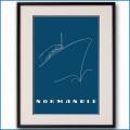 1935年 客船ノルマンディー・ブルーベルベットブローシャーカバー 2070LL黒