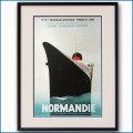 1935年 客船ノルマンディーのポスター 2071LL黒