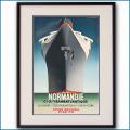 1935年 客船ノルマンディーのポスター VOYAGE INAUGUAL版 2074LL黒
