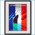 1937年 客船ノルマンディーのポスター 2075LL黒