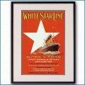 1912年 ホワイトスターライン 客船オリンピックとタイタニックのポスター 黒