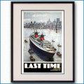 1982年 シガネ 客船フランスのポスター 黒