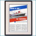 1935年 客船ノルマンディー・就航雑誌広告 2108LL黒