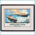 1938年 サウサンプトンドック客船ポスター 2132LL黒