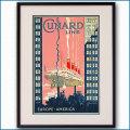 1925年 キュナードラインのポスター 2271LL黒