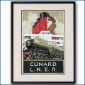 1930年代 LNER鉄道の客船ポスター 2274LL黒