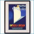 1932年 客船エンプレス・オブ・ブリテンのポスター 2304LL黒