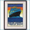 1927年 客船アストリアスのポスター 2323LL黒