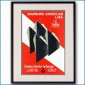 1928年 ハンブルクアメリカラインのポスター 2355LL黒