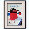 1962年 客船フランスのポスター 2398LL黒