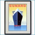 2004年 客船クイーンメリー2のポスター 2433LL黒