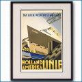 1928年 客船スタテンダムのポスター 2451LL黒