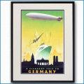 1930年代 ドイツ観光局のポスター 2467LL黒