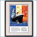 1957年 客船イル・ド・フランス雑誌広告 2581LL黒