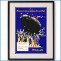 1956年 ヴィユモ 客船リベルテのポスター 2583LL 黒