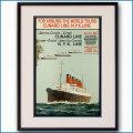 1930年 日本郵船・キュナードラインのポスター 黒